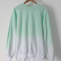 ANDCLOTHING — Mint Ice Dip Dye Sweater COMING SOON