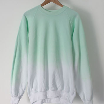 ANDCLOTHING — Mint Ice Dip Dye Sweater <em>COMING SOON</em>