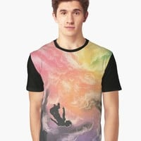 'Colourful Sky Dive' Graphic T-Shirt by DimKad