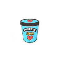 Forever Alone Ice Cream Pint Lapel Pin