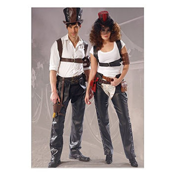 McCall's Patterns M7176 Chaps, Harness, Pouches, Holster, Armbands and Hats Sewing Template, All Sizes