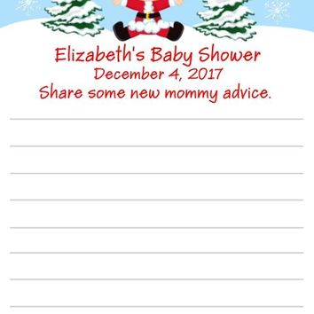 10 Christmas Baby Shower Advice Cards Many Options