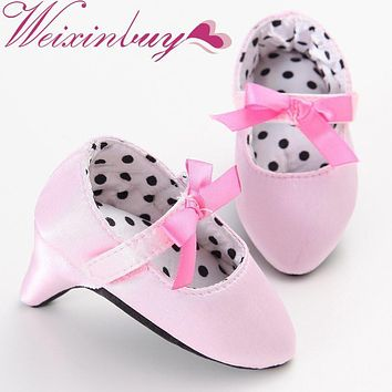 WEIXINBUY Baby Girsl Crib Prewalker Bow High Heels Princess Fashion Sweet Lovely Infant Toddler First Walkers Shoes 0-1T