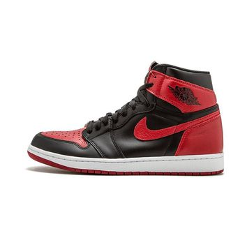 Nike Air Jordan 1 OG Banned AJ1 Breathable Original New Arrival Official Basketball Shoes Sports Sneakers 555088-001