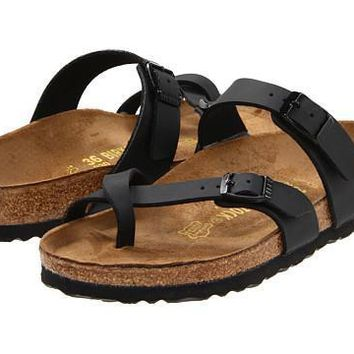 Birkenstock Mayari Sandals Black Biko-flor - Beauty Ticks