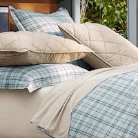 Relaxed Plaid Reversible Duvet Cover + Sham