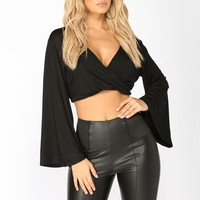 Maritta Crop Top - Black