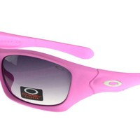 Oakley Asian Fit Sunglasses Pink Frame Purple Lens