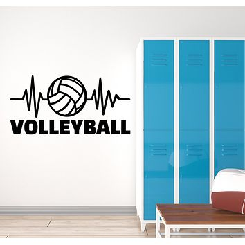 Vinyl Wall Decal Volleyball Game Sport Ball Logo Signboard Stickers (3188ig)