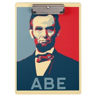 Hope Style Lincoln Portrait Clipboard