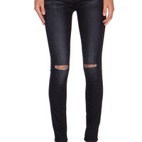 7 For All Mankind Distressed Skinny in Icy Black 2