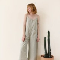 Ali Golden Jumper with Patch Pockets - Sage on Garmentory
