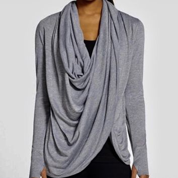 Zella Neo Gray Wrap Around Cardigan