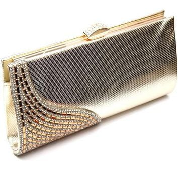 Side Wave Design Evening Clutch Bag
