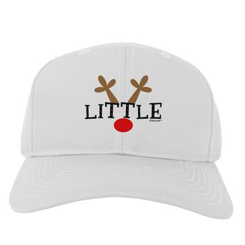 Matching Family Christmas Design - Reindeer - Little Adult Baseball Cap Hat by TooLoud