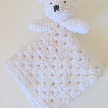 Polar Bear Lovey PDF Crochet Pattern INSTANT DOWNLOAD