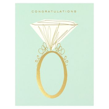 Engagement Ring Greeting Card