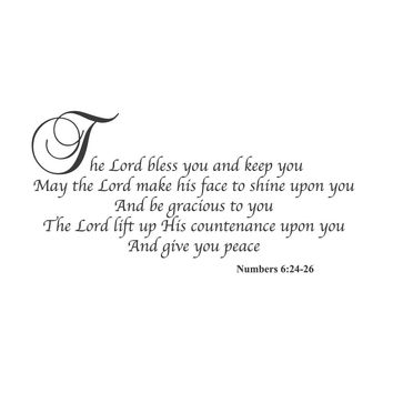 wall quotes wall decals - Numbers 6:24-26