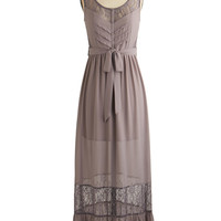 ModCloth Long Sleeveless Maxi Delight on Time Dress