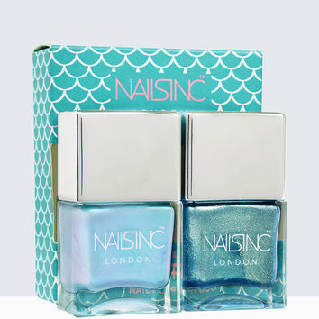 Nails inc Self-Made Mermaid Nail Polish Duo | Nails inc.US