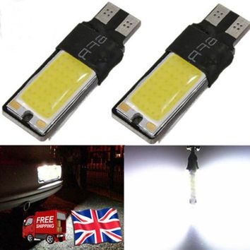6 colors 1pcs T10 LED 194 168 W5W COB Interior Bulb Light Parking Backup Brake Lamps Canbus No Error Cars xenon Auto Led Car