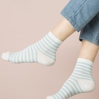 BLUE AND WHITE STRIPE SOCKS