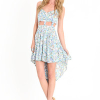 Floral Madness Cutout Dress By Reverse - $39.50 : ThreadSence, Women's Indie & Bohemian Clothing, Dresses, & Accessories