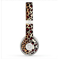 The Vector Brown Leopard Print Skin for the Beats by Dre Solo 2 Headphones