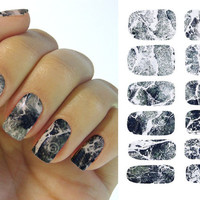 Hot Water Transfer Nails Marble Design Nail Sticker  Fashion Designs Nail Wraps K5733