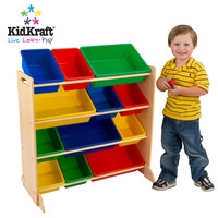 KidKraft - Storage Bin Unit with Primary Bins - 12