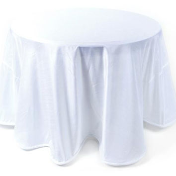 2 Round Tablecloths - White