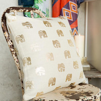 Gold Elephant Pillow