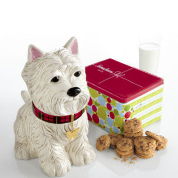 """Westie"" Cookie Jar & NM Chocolate Chip Cookies - Horchow"