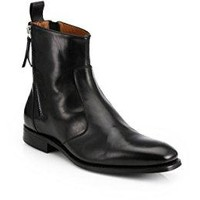 Givenchy Leather Tuxedo Ankle Boots 40/ US 7 Black