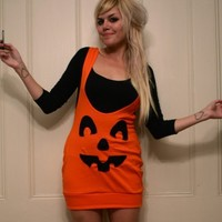 Pumpkin Suspender Skirt MADE TO ORDER