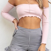 State Of Mind Black & White Gingham Shorts