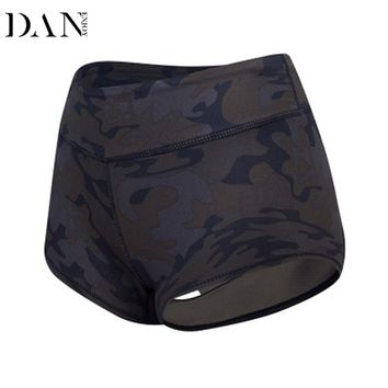 DANENJOY Sporting Camouflage Sexy Yoga Shorts Women High Waist Fitness Running Gym Skinny Quick Dry Short Pant Workout Bottom