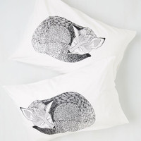 ModCloth Woodland Creature Sly Rest My Case Pillow Sham Set