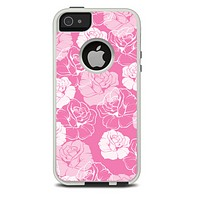 The Subtle Pinks Rose Pattern V3 Skin For The iPhone 5-5s Otterbox Commuter Case