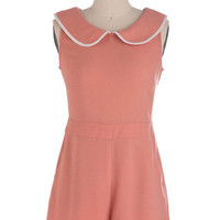 Peach for the Stars Romper | Mod Retro Vintage Rompers | ModCloth.com