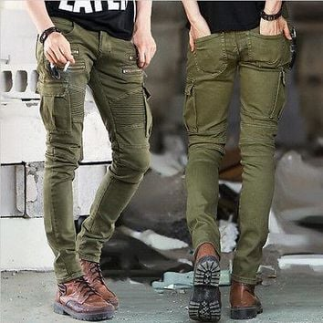 Fashion New Mens Denim Trousers Chinos Stretch Skinny Slim Fit Jeans All Waist Sizes