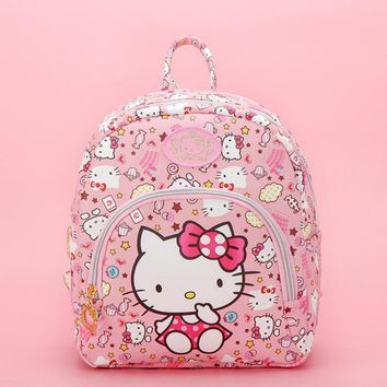 Fashion Cartoon Pink Hello Kitty Backpacks Cute Small Bags Children Schoolbag Kids Toy For Girls Birthday Gifts Good Quality