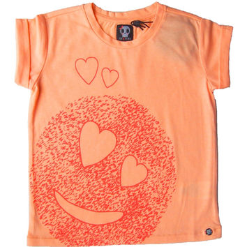Sorry 4 The Mess - Girls I Love You Emoji T-Shirt, Coral