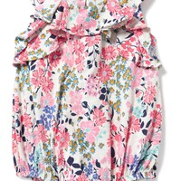 Floral-Print Bubble Romper for Baby | Old Navy