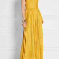 Rachel Zoe - Kim plissé silk-blend jersey maxi dress