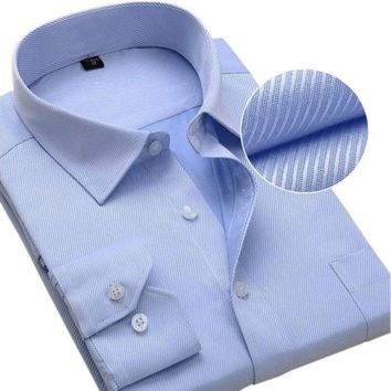 New Design Twill Cotton Pure Color Business Formal Dress Shirt For Men