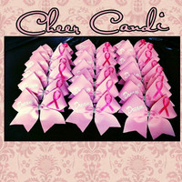 "Breast Cancer Awareness 3"" Bow with Name Customization"