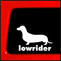 Dachshund Wiener Dog Lowrider Sticker decal | 6 X 4.3 In Vinyl Decal