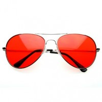 The Hangover Bradley Cooper Silver Aviator Glasses with Color Lens Sunglasses