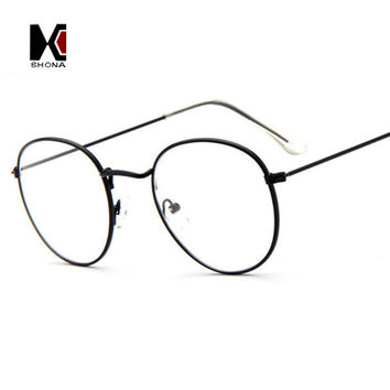 super light retro clear eyeglasses brand designer round frame fo